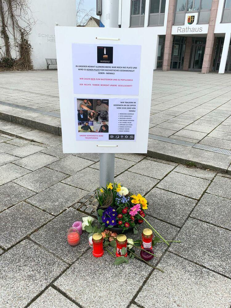 Denkstelle zu den Opfern von Hanau in Unterkirchberg